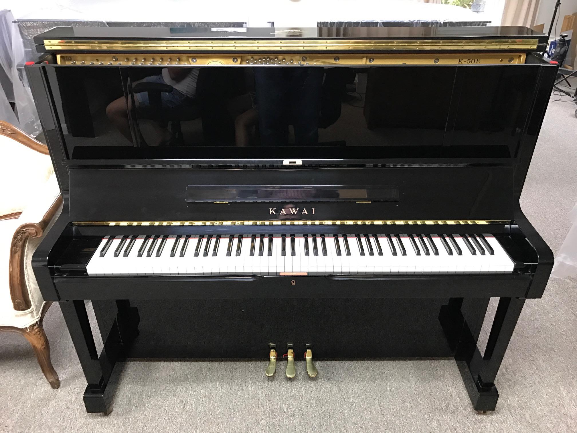 Kawai Upright Piano >> 2001 Kawai K 50 Upright Piano Piano High Gloss Ebony