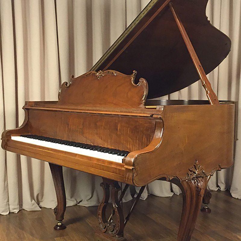 restored walnut steinway grand piano louis xv