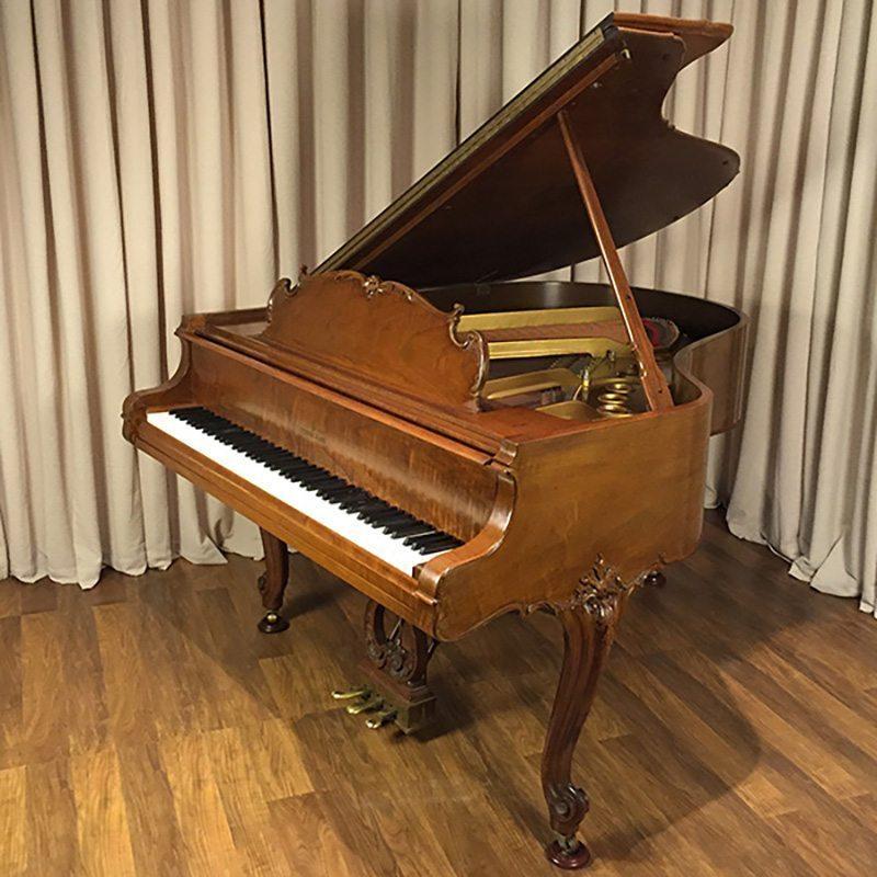 walnut steinway grand piano louis xv