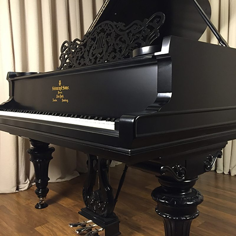 ornate vintage steinway grand piano victorian a ebony