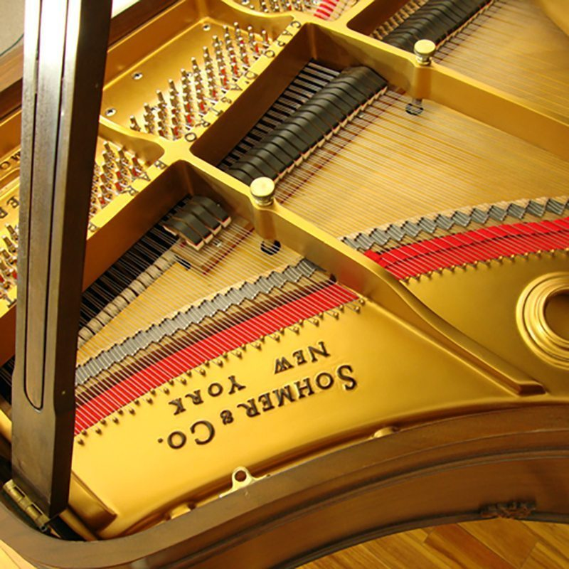 sohmer grand piano restored refinished cupid