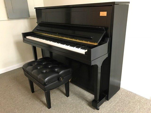 steinway, 1098, upright, piano, ebony