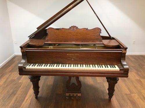 1901 steinway a grand piano victorian african mahogany