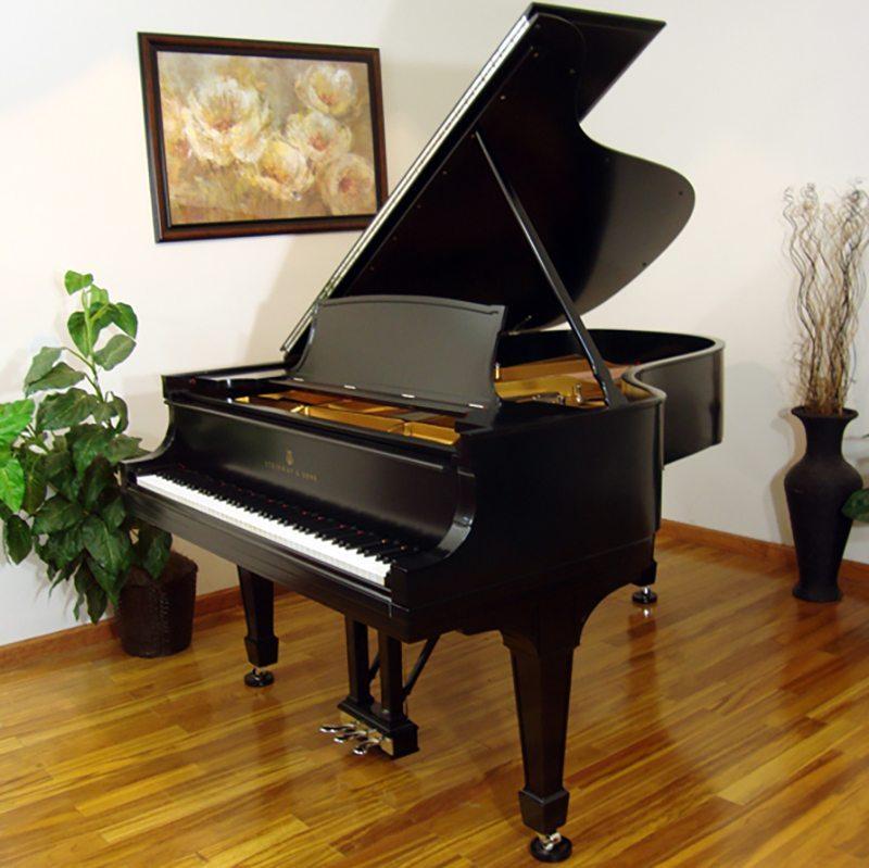 1917 Steinway A3 Grand Piano Traditional Ebony Restored