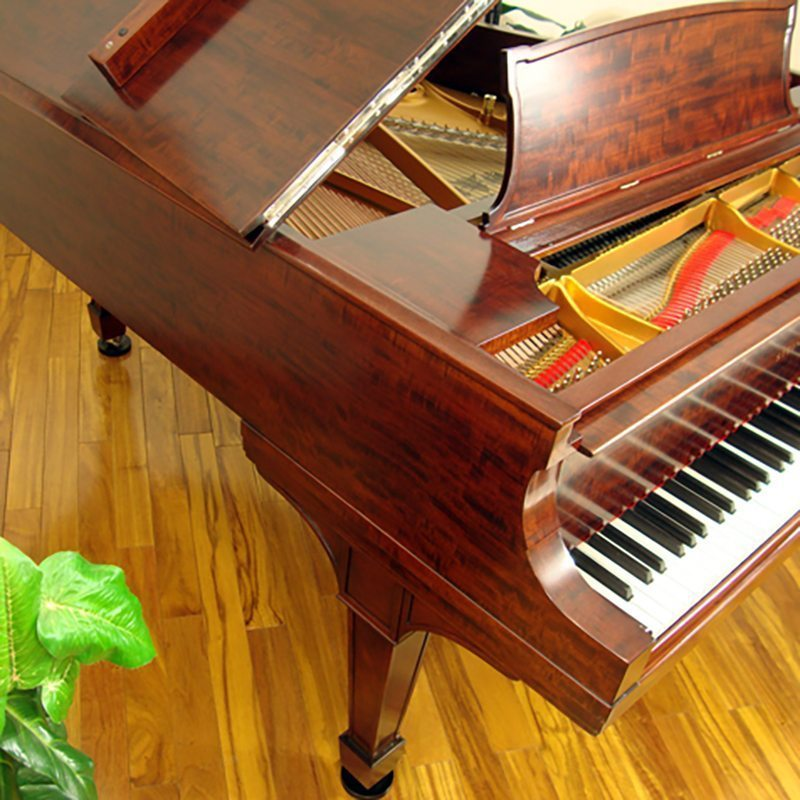 1918 Steinway A3 Grand Piano Traditional Style African Mahogany Restored