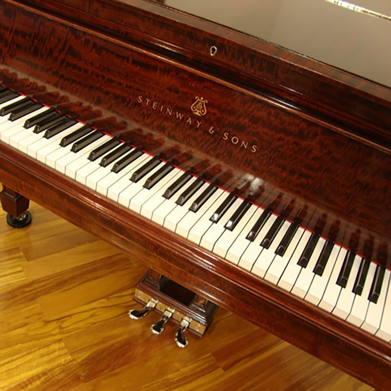 1917 Steinway C Grand Piano Traditional Style African Mahogany Restored