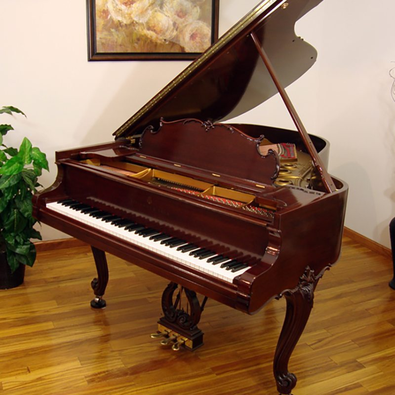 1927 Steinway L Grand Piano Louis XV Style in Mahogany Wood