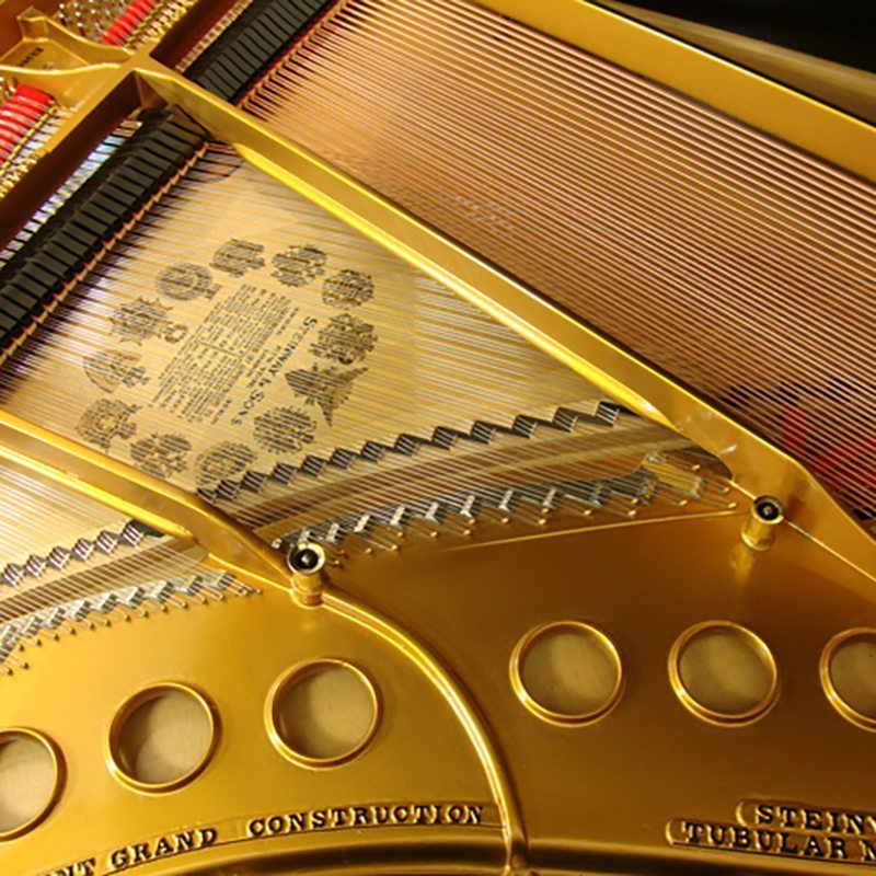 1924 Steinway M Grand Piano Ebony Traditional Style Restored