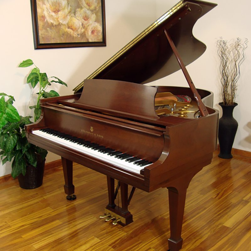 1988 Steinway M Grand Piano in Mahogany Traditional Style