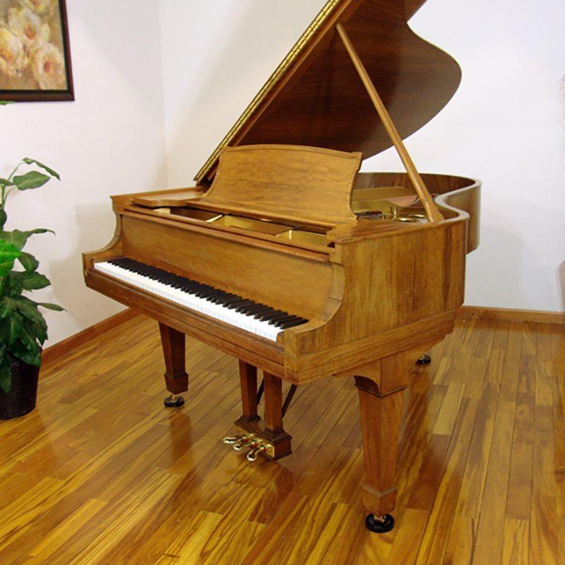1915 Steinway O Grand Piano Circassian Walnut Traditional Style