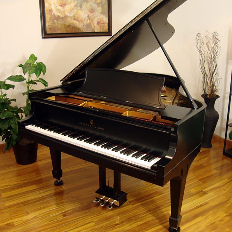 1916 Steinway O Grand Piano Ebony Tradtional Style Restored
