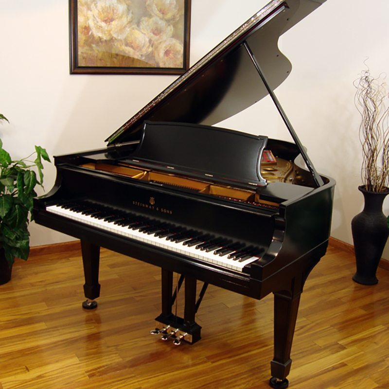 1922 Steinway O Grand Piano Ebony Traditional Style Restored