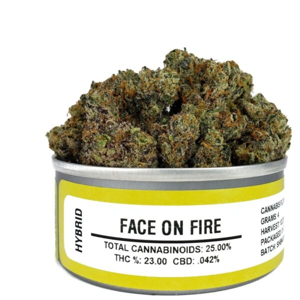 Buy face on fire weed cans