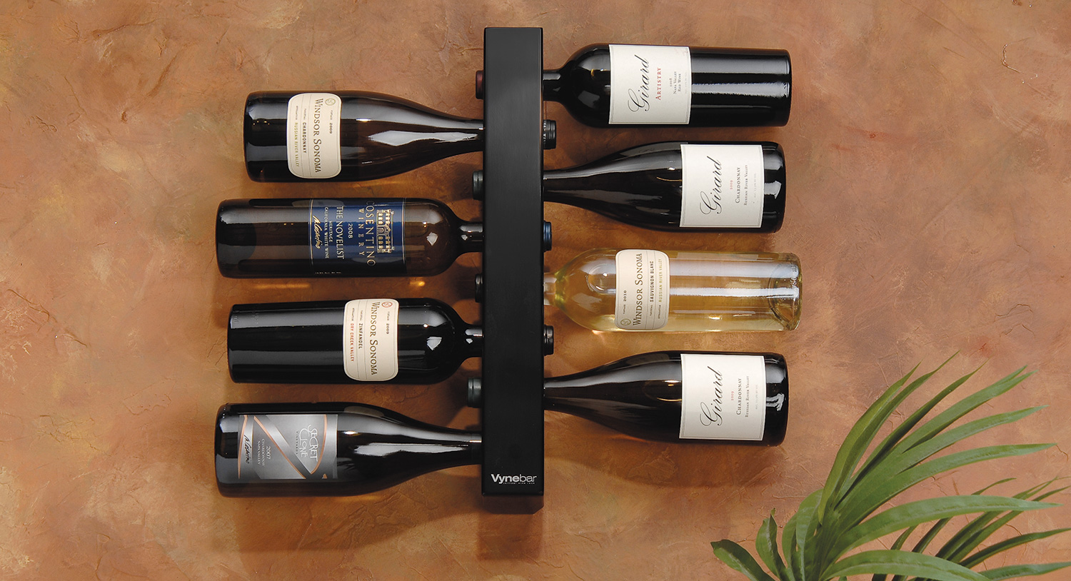Chic and innovative, the Vynebar Vertical Racks are designed to eliminate countertop clutter and display wine in a unique, fun and stylish way.