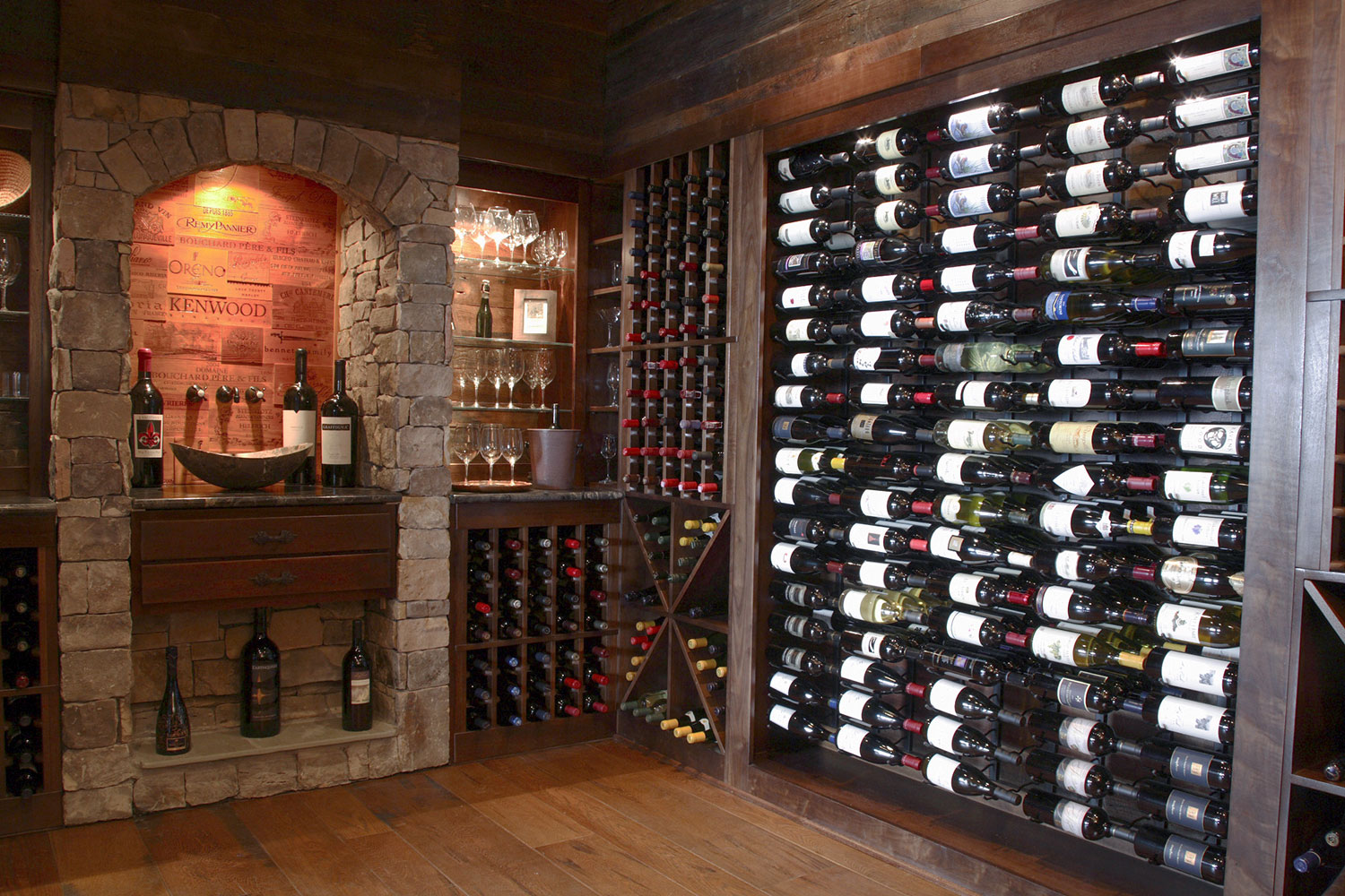 Popular VintageView wine racks are available for large-format bottles