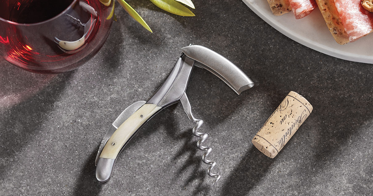 Laguiole En Aubrac White Bone Waiters Corkscrew
