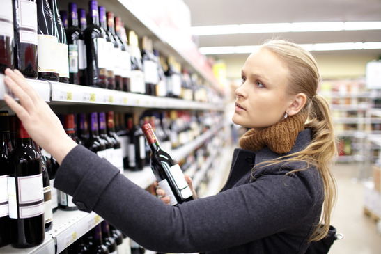 buying wine, shopping for wine, selecting wine