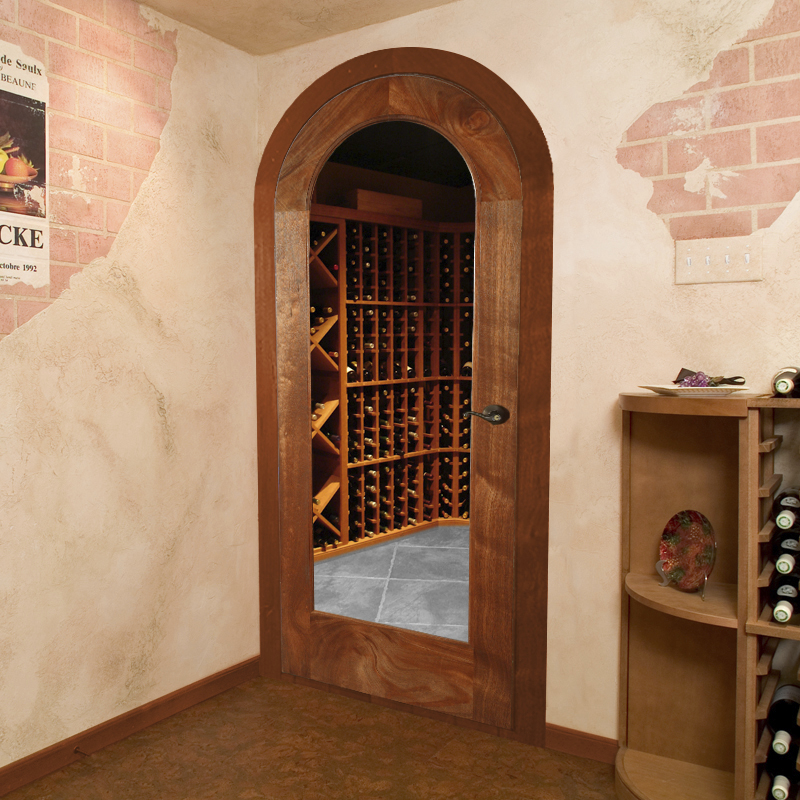 Doors should be designed specifically for wine cellars