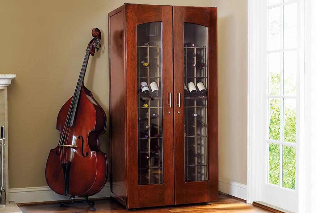 Le Cache Contemporary 2400 Wine Cabinet Classic Cherry #734