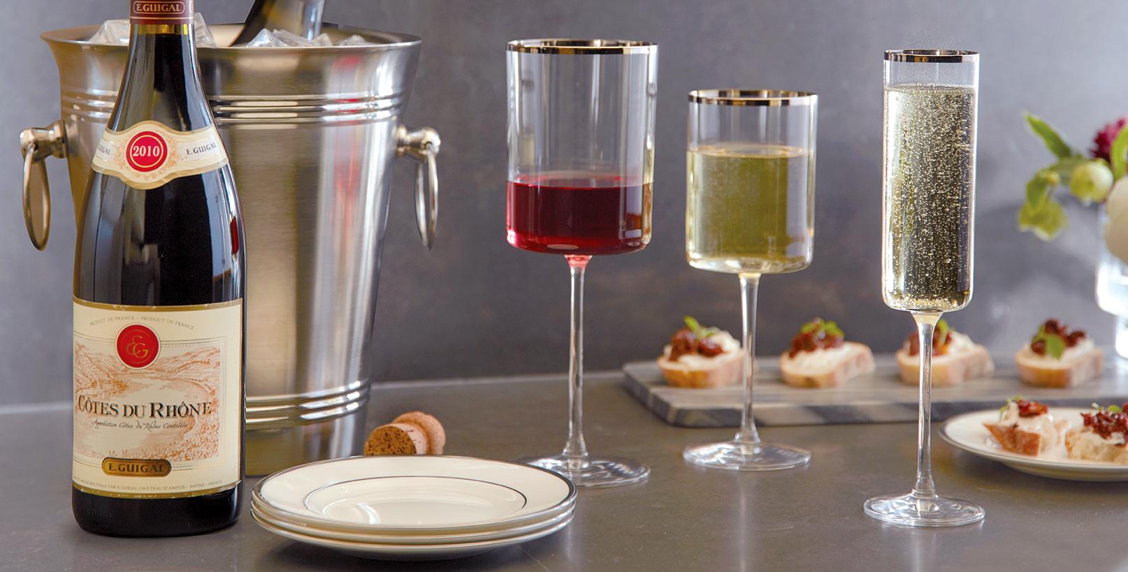 Ultima Modern Platinum Wine Glasses