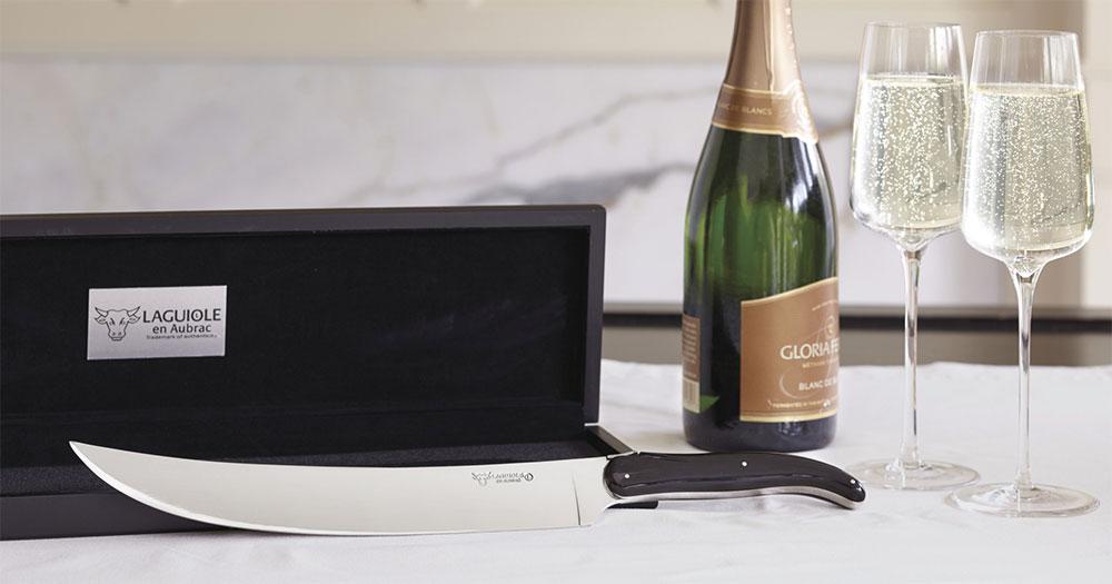 Laguiole En Aubrac Buffalo Champagne Saber