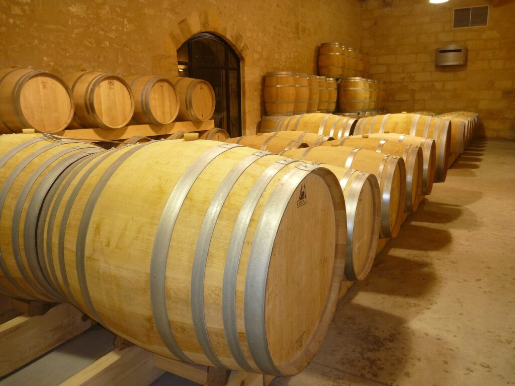Traditional Oak Wine Barrels