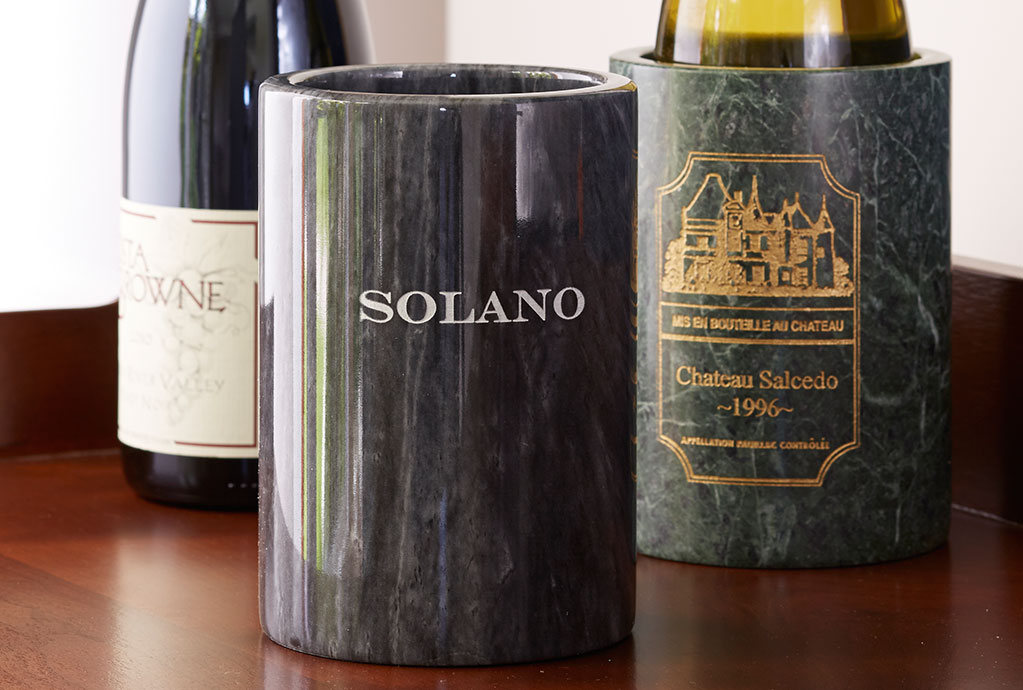 Personalized Marble Wine Chillers