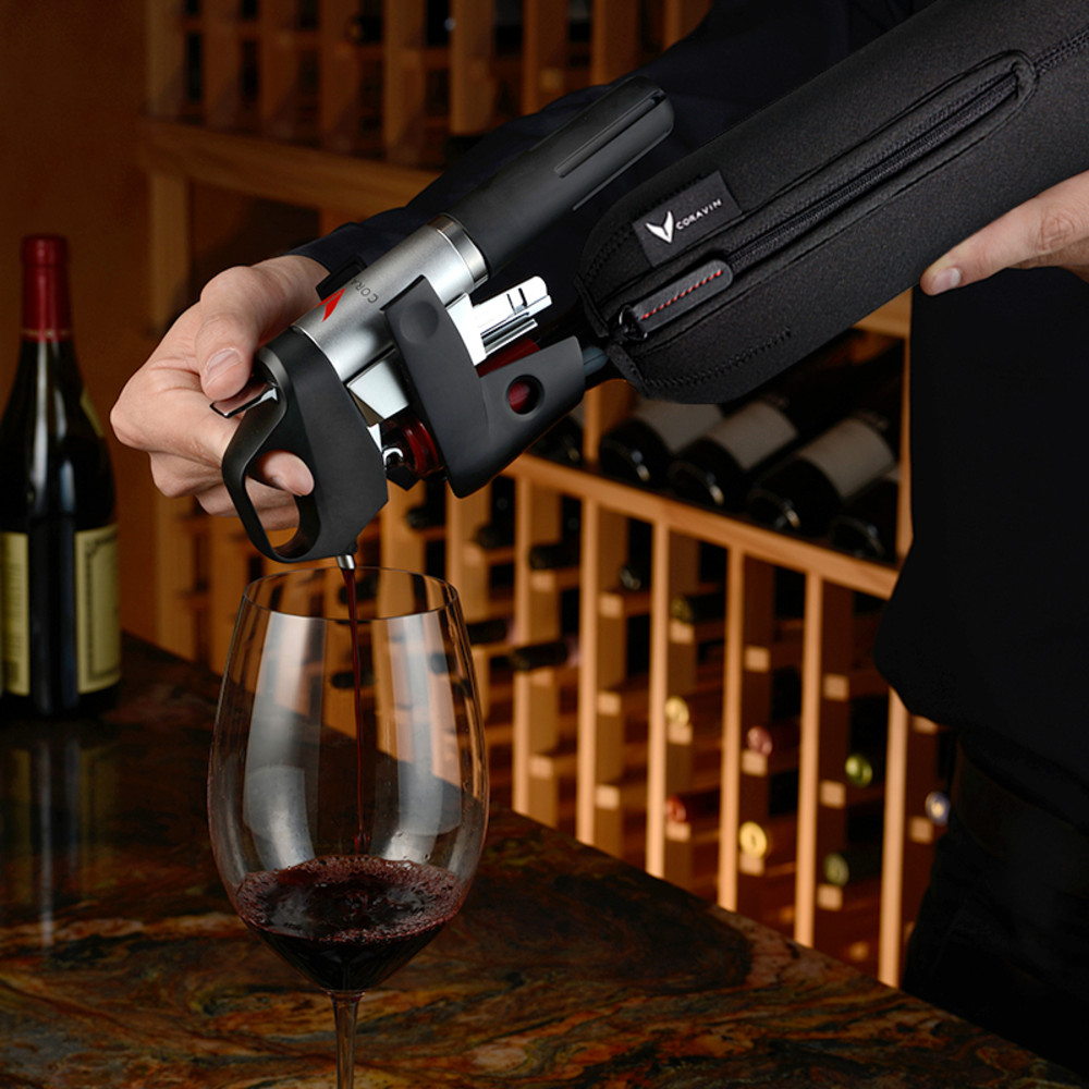 Coravin wine opener preserver and storage