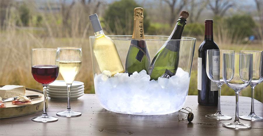 Italesse shatterproof polycristal outdoor wine glasses