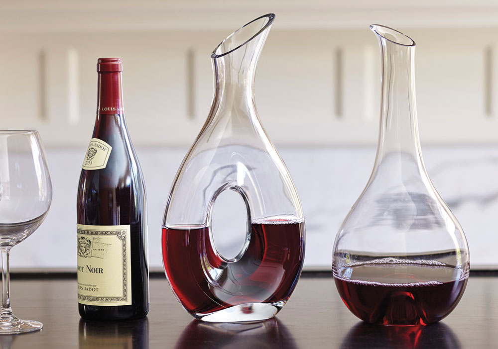 Holiday Decanter Pouring