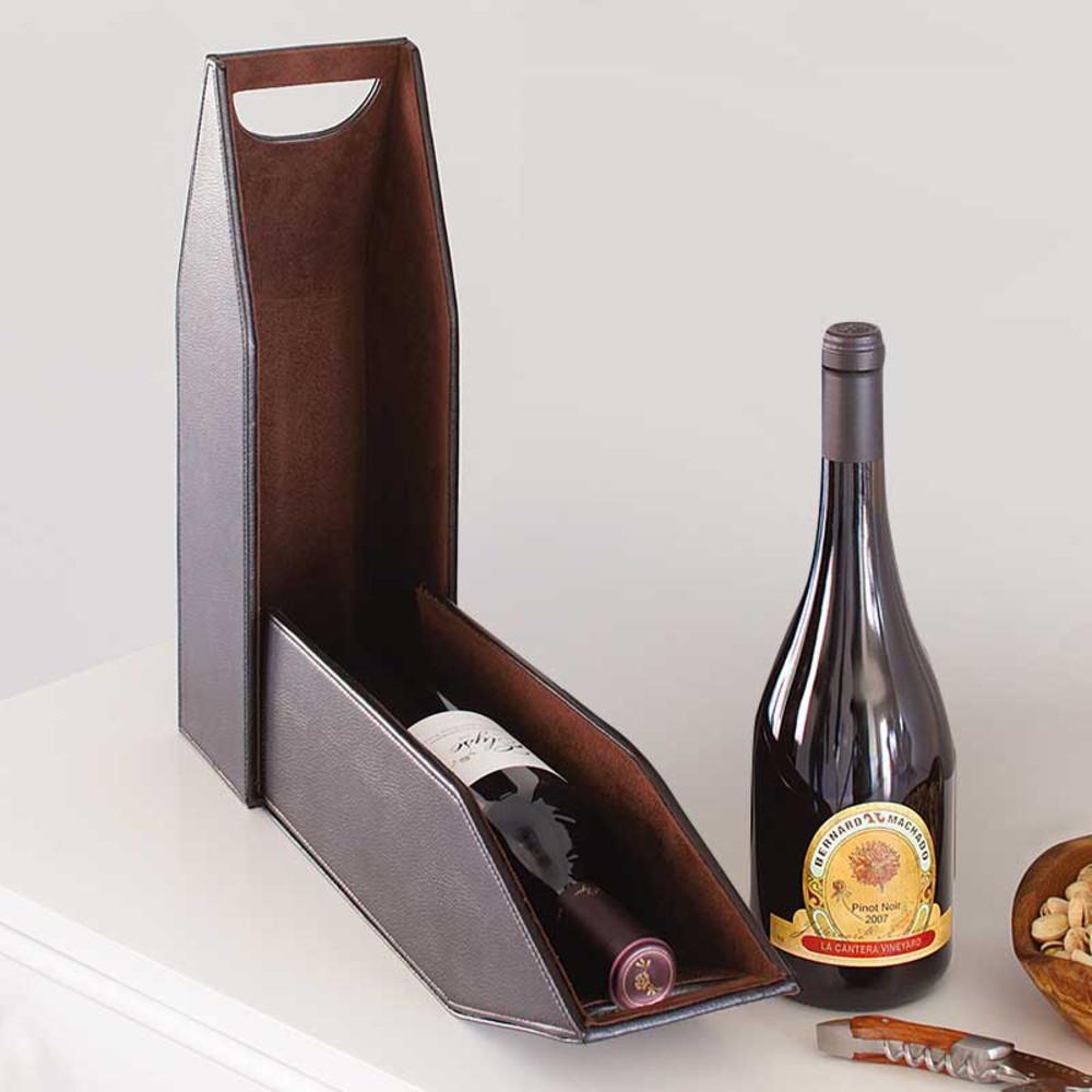 Mahogany Wine Bottle Tote Box