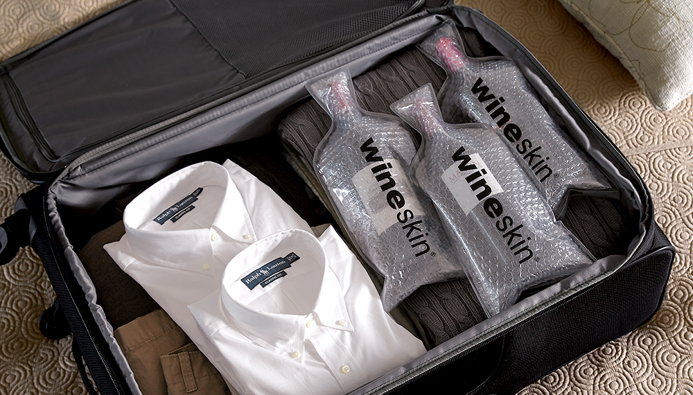 Travel with Wine using WineSkins Bags