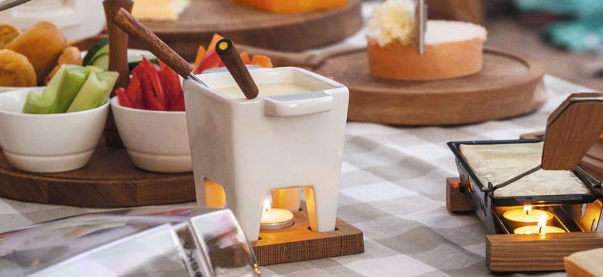 Valentine's Day Boska Fondue Set White