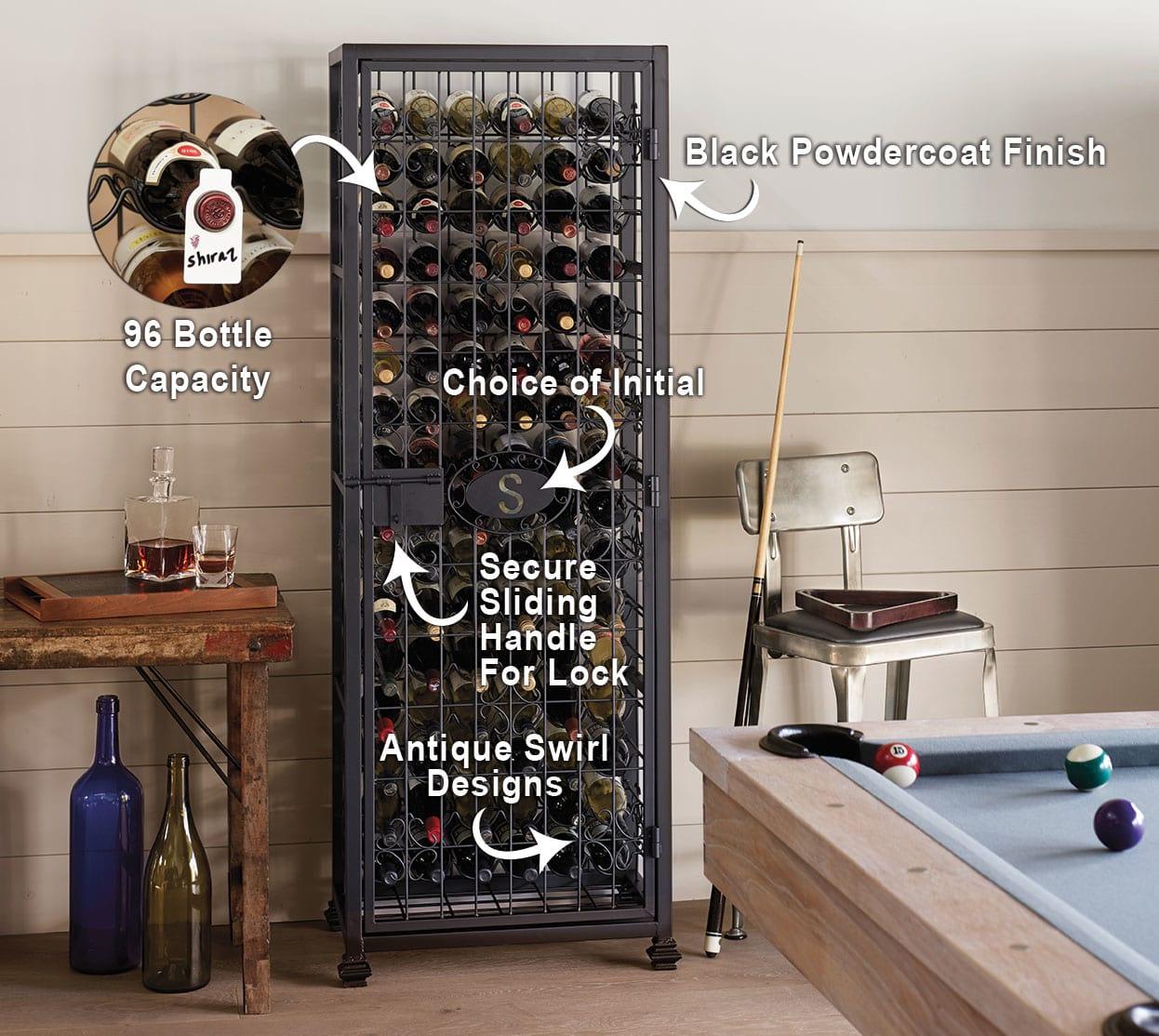 Personalized Wine Jail Storage