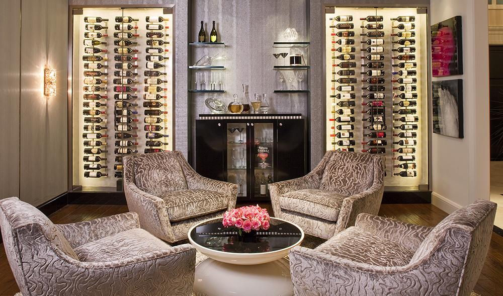 IWA Design Center - Glass Enclosed Wine Cellar
