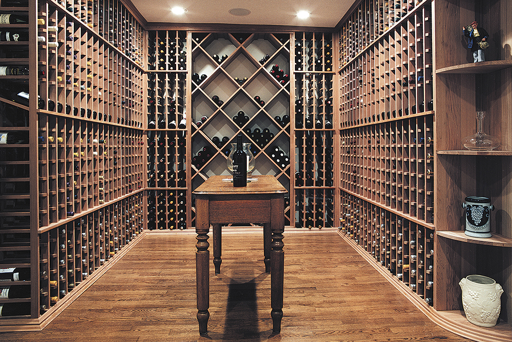 IWA Design Center - Wood Wine Cellar