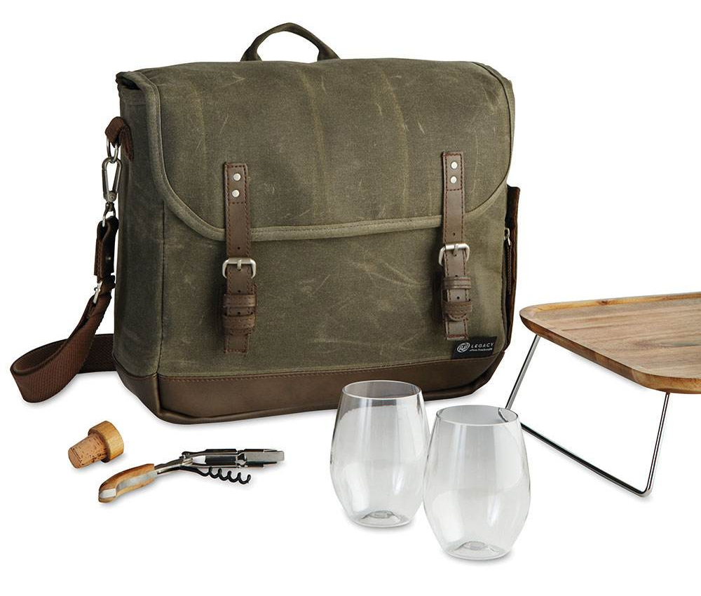 Canvas Wine & Cheese Tote