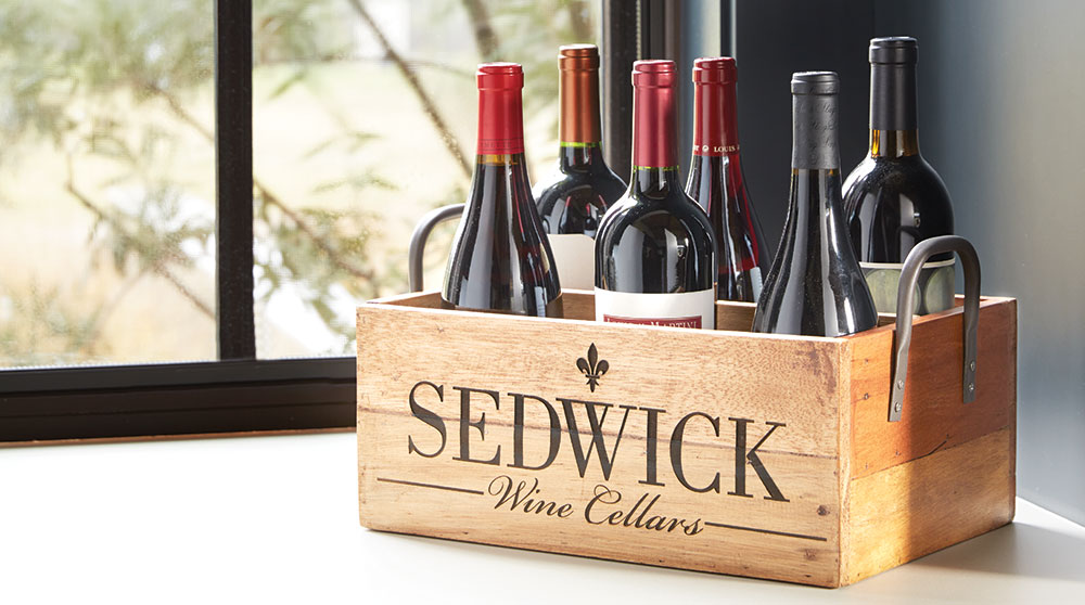 Personalized Wood Wine Carrier