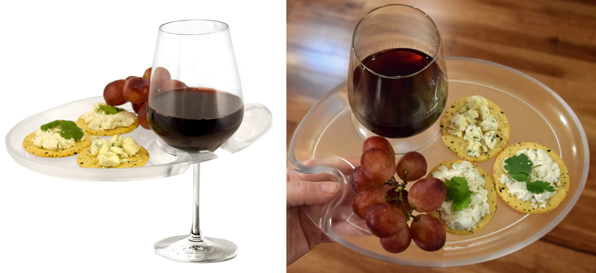 Wine n Dine wine glass trays for parties