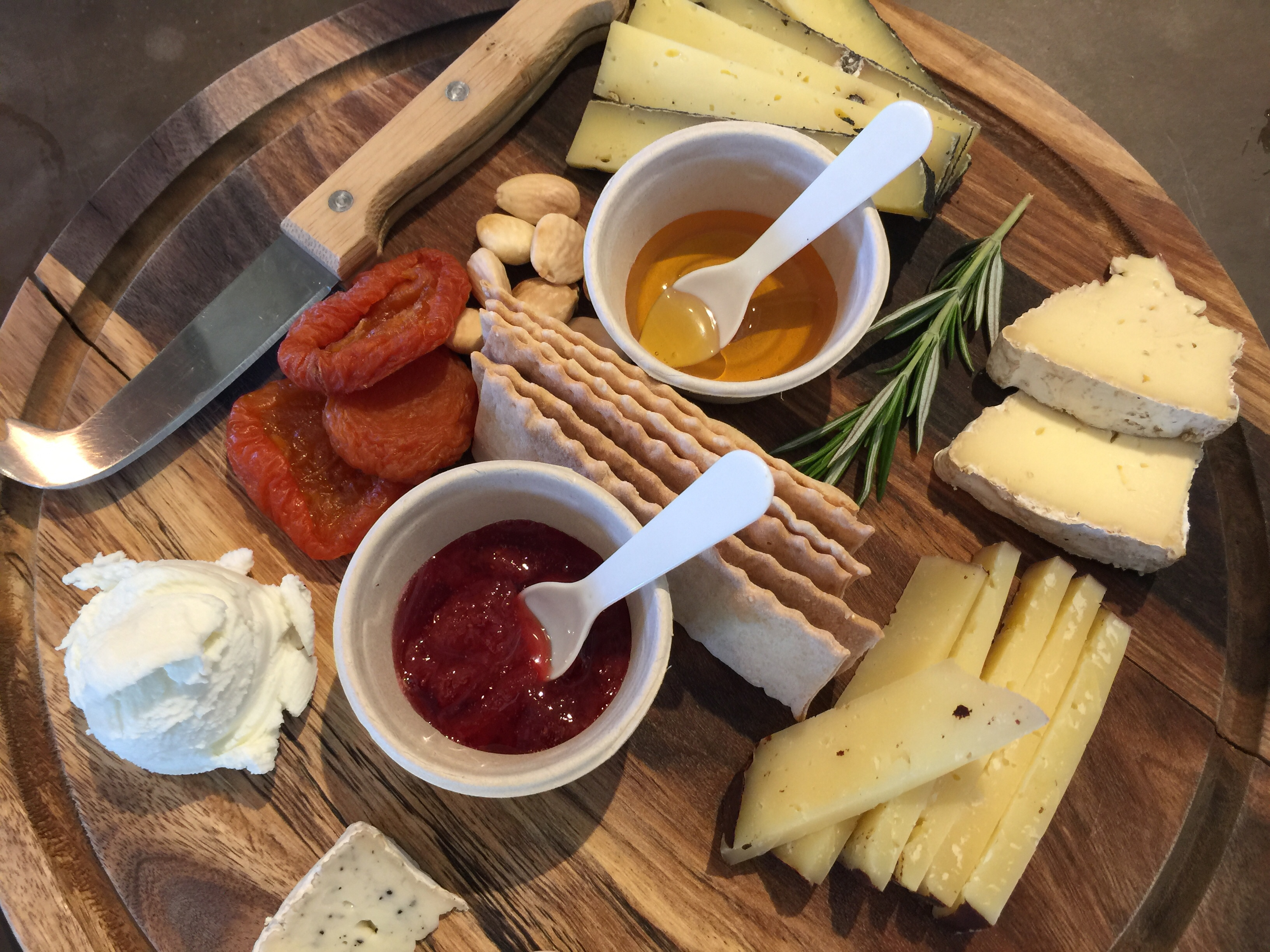 Valley of the Moon Winery at Madrone Estate cheese platter