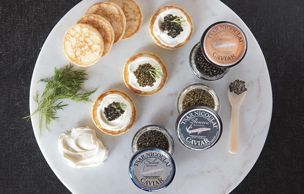 Caviar and Vodka Pairing