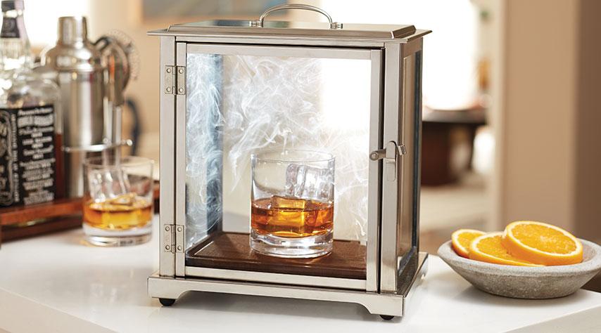Crafthouse Smoking Box Cocktail with Smoke Gun