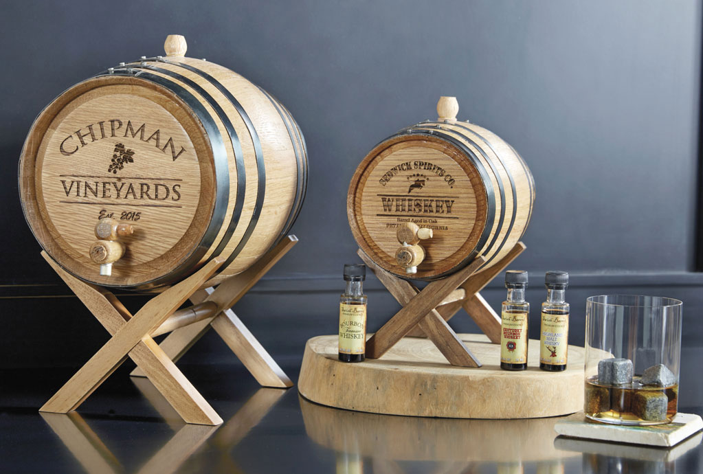 Mini Personalized Oak Barrels