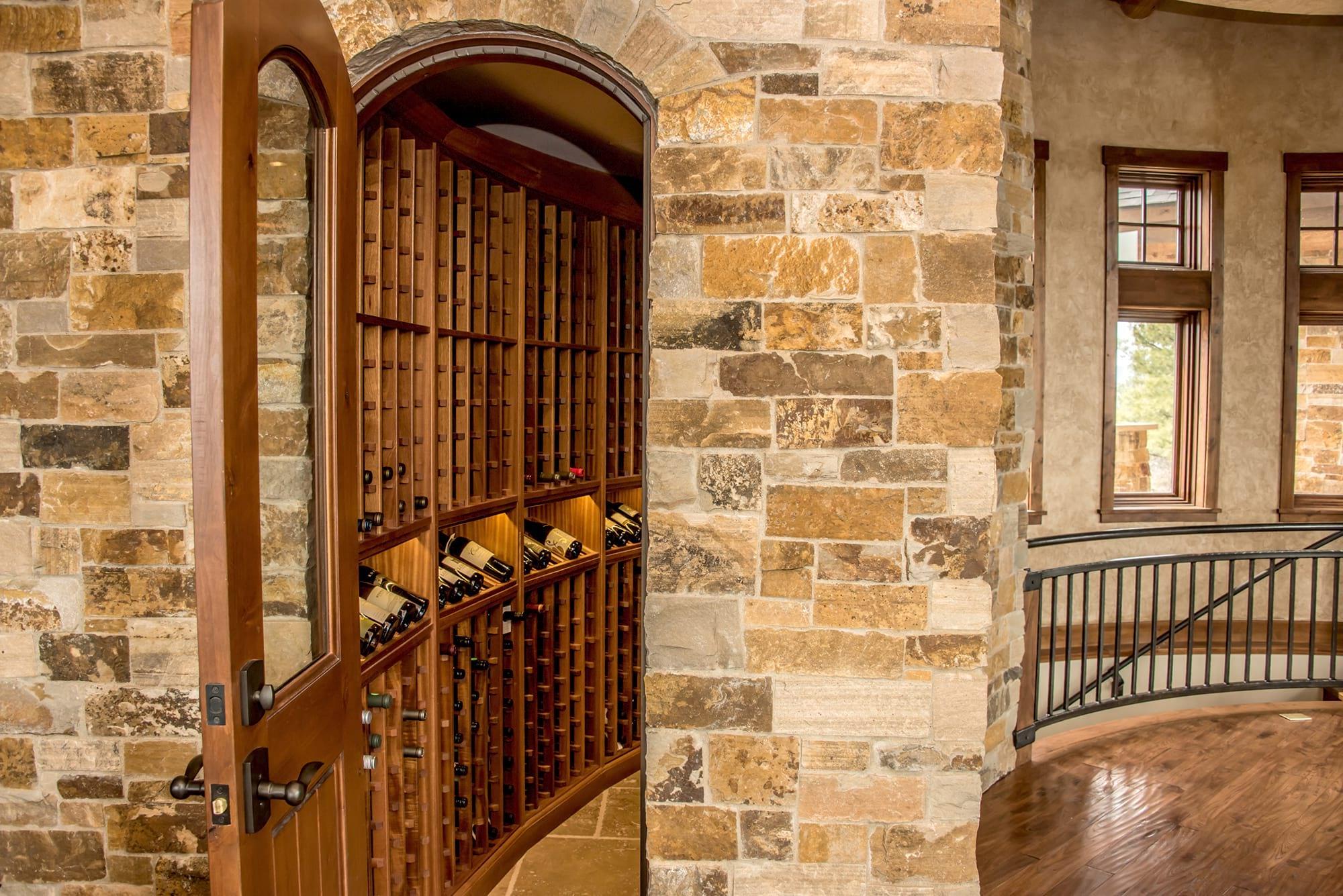 Custom Wood Wine Cellar