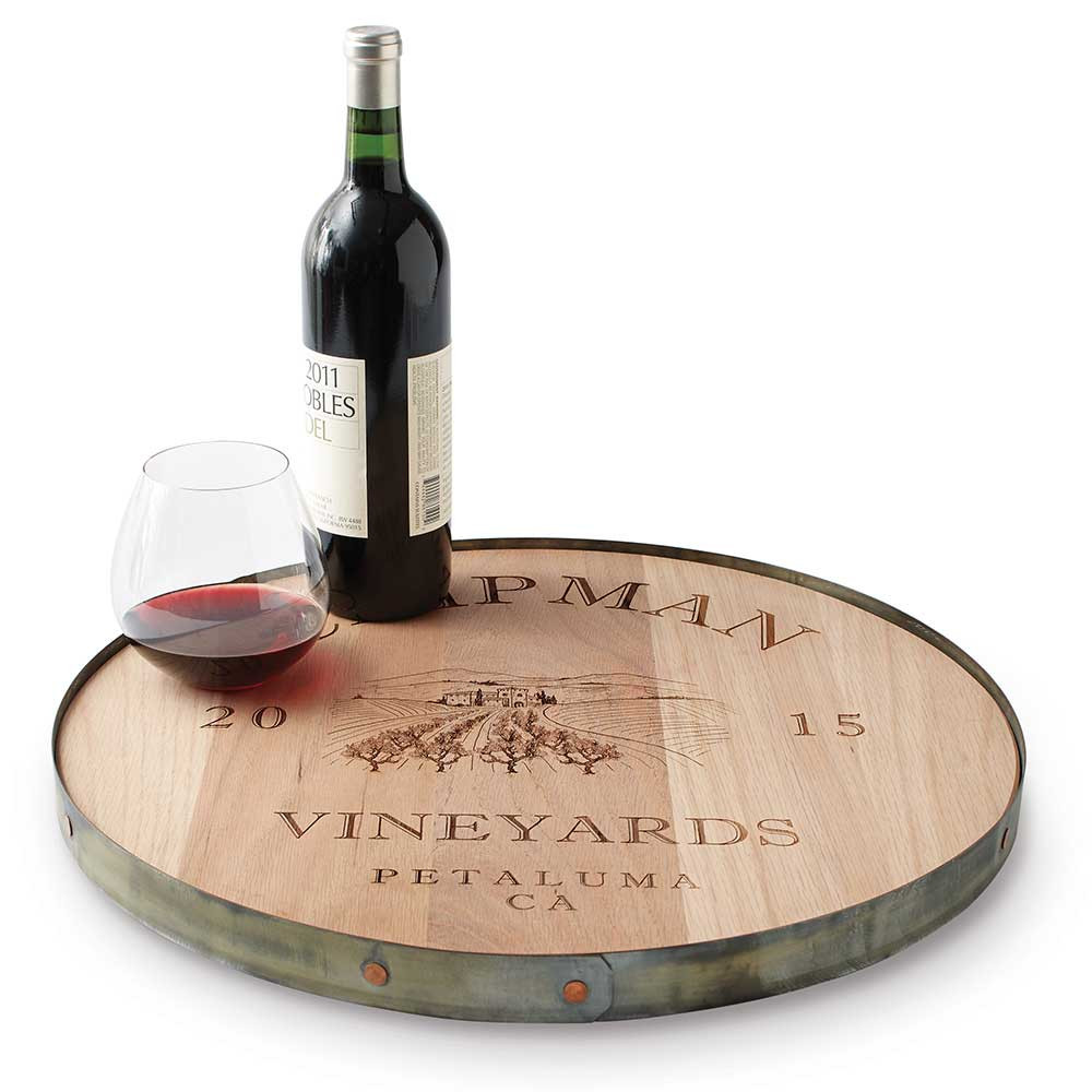 Personalized Recycled Barrel Lazy Susan