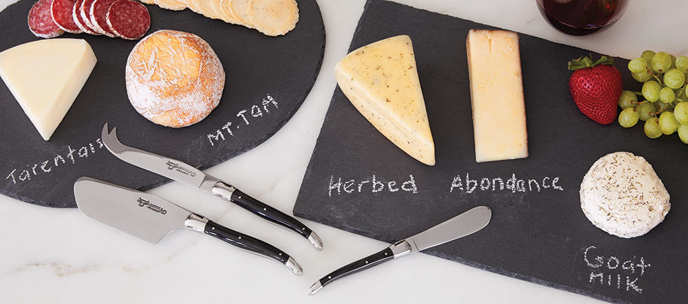 Laguiole Cheese Knives & Slate Cheese Board