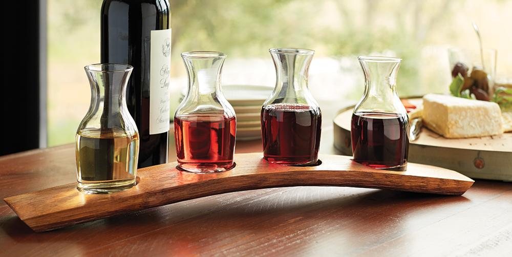 Barrel Stave Wine Tasting Set