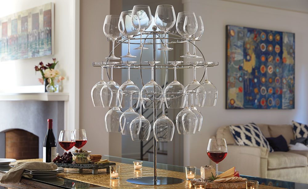 Glass Globe Display Rack