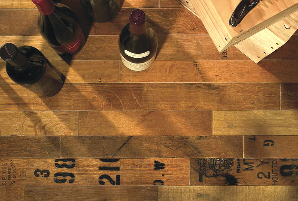 Wine Barrel Stave Flooring