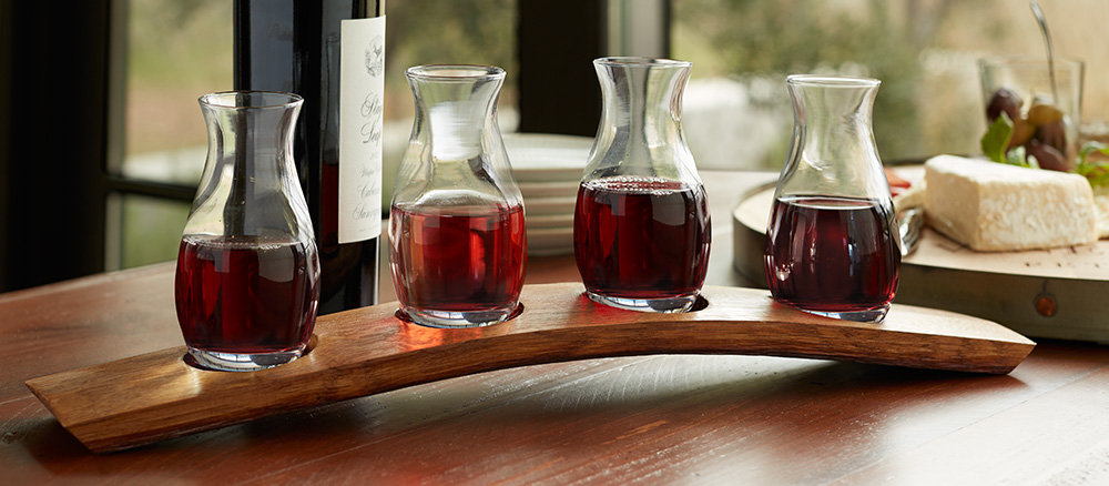 Barrel Stave Wine Flight Set